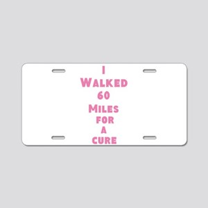 Breast Cancer Aluminum License Plate