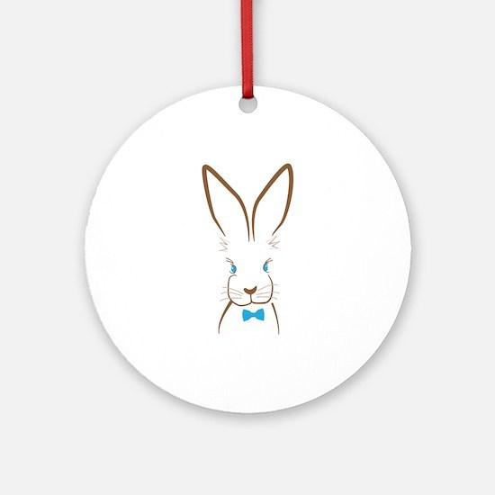 Bowtie Bunny Round Ornament