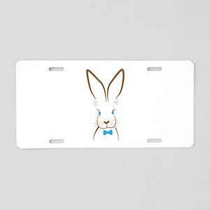 Bowtie Bunny Aluminum License Plate