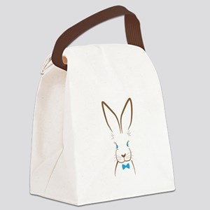 Bowtie Bunny Canvas Lunch Bag