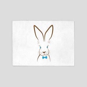 Bowtie Bunny 5'x7'Area Rug