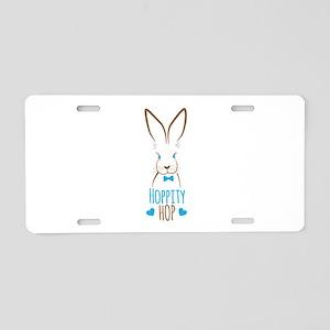 Hoppity Hop Bunny Aluminum License Plate