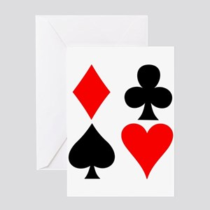 Playing card suits. Greeting Card