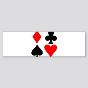 Playing card suits. Sticker (Bumper)