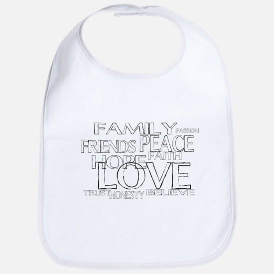 FAITH LOVE FAMILY FRIENDS Bib