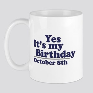October 8th Birthday Mug