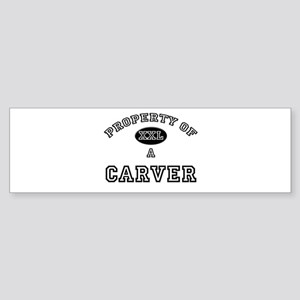 Property of a Carver Bumper Sticker