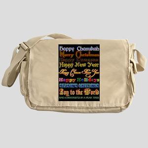 Holiday Greetings Messenger Bag
