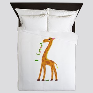 Sweet Giraffe Queen Duvet