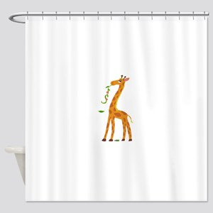 Sweet Giraffe Shower Curtain