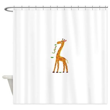Wonderful Sweet Giraffe Shower Curtain