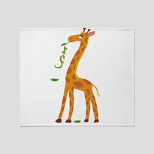 Sweet Giraffe Throw Blanket