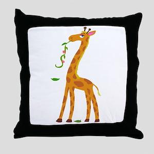 Sweet Giraffe Throw Pillow