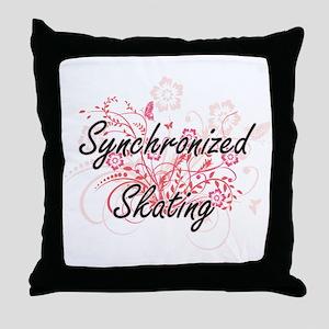 Synchronized Skating Artistic Design Throw Pillow