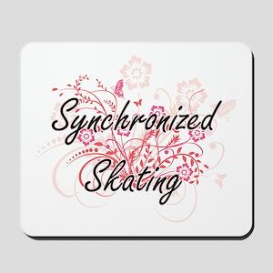 Synchronized Skating Artistic Design wit Mousepad