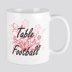 Table Football Artistic Design with Flowers Mugs