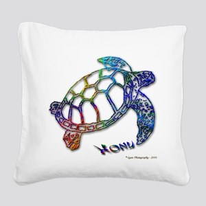 HONU-10-outlinie Square Canvas Pillow