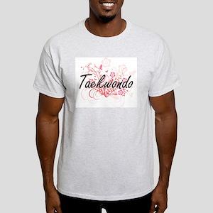 Taekwondo Artistic Design with Flowers T-Shirt