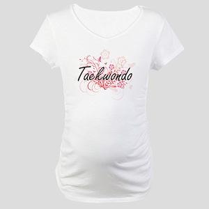 Taekwondo Artistic Design with F Maternity T-Shirt