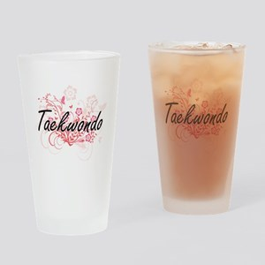 Taekwondo Artistic Design with Flow Drinking Glass