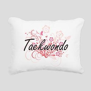 Taekwondo Artistic Desig Rectangular Canvas Pillow