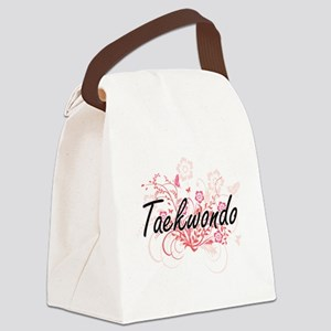 Taekwondo Artistic Design with Fl Canvas Lunch Bag