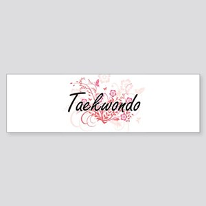 Taekwondo Artistic Design with Flow Bumper Sticker