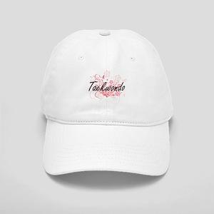 Taekwondo Artistic Design with Flowers Cap