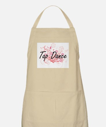 Tap Dance Artistic Design with Flowers Apron