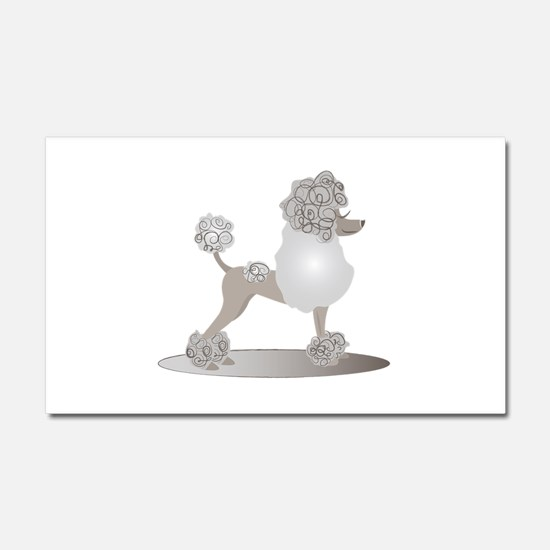 French Poodle Car Magnet 20 x 12