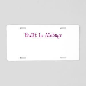Built In Airbags Aluminum License Plate