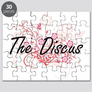 The Discus Artistic Design with Flowers Puzzle