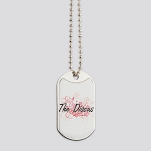 The Discus Artistic Design with Flowers Dog Tags
