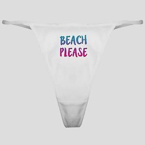 Beach Please funny Classic Thong
