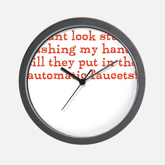Automatic Faucets Wall Clock