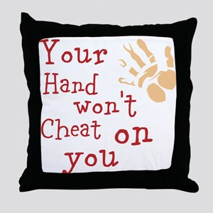 Hand wont cheat Throw Pillow