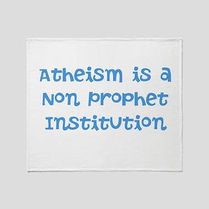 Atheism Non Prophet Throw Blanket