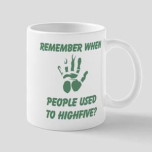 People used to Highfive 11 oz Ceramic Mug