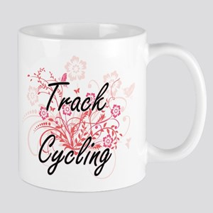 Track Cycling Artistic Design with Flowers Mugs