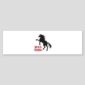 Wild Thing Bumper Sticker