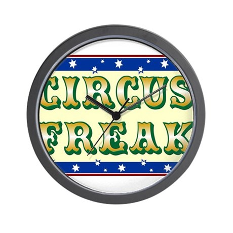 T-shirts for circus freaks Wall Clock
