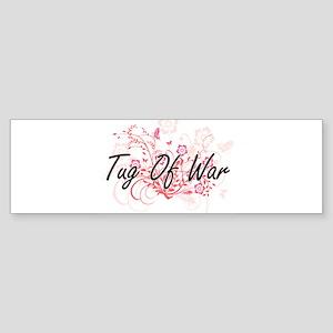 Tug Of War Artistic Design with Flo Bumper Sticker