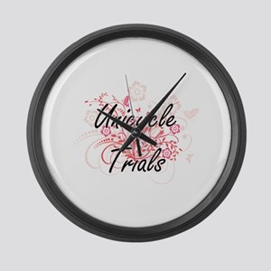 Unicycle Trials Artistic Design w Large Wall Clock