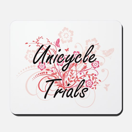 Unicycle Trials Artistic Design with Flo Mousepad