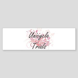 Unicycle Trials Artistic Design wit Bumper Sticker