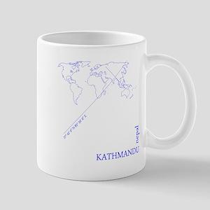 Kathmandu Geocode (blue) Mugs