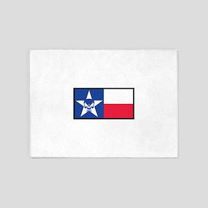Texas Skull Flag 5'x7'Area Rug