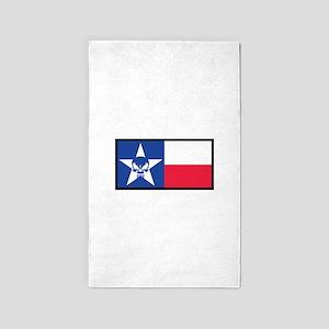 Texas Skull Flag Area Rug