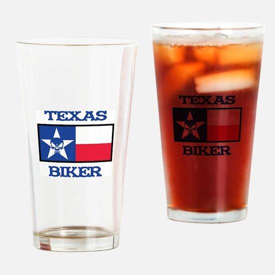 Texas Biker Drinking Glass