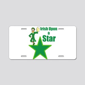 Irish upon a star Aluminum License Plate